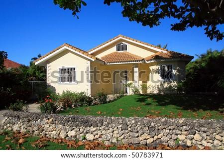Private villa, Dominican Republic - stock photo
