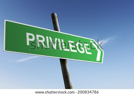 Privilege direction. Green traffic sign. - stock photo