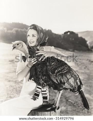 Prize turkey - stock photo