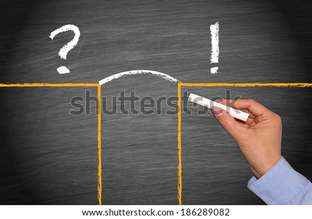 Problem and Solution - Business Concept - stock photo