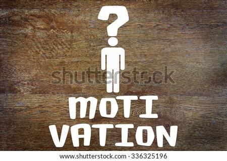 Problem of human motivation. Conceptual image - stock photo