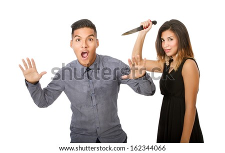 problem solving in a couple crisis - stock photo