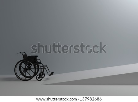 Problems of people with disabilities - stock photo