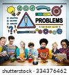 Problems Trouble Difficulty Failure Challenge Concept - stock photo