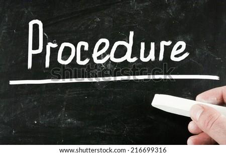 procedure concept - stock photo