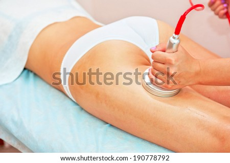 procedure for women buttocks for cellulite and fat - stock photo