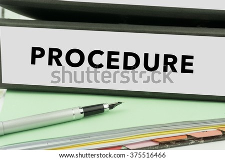 Procedure - Ring Binder in the office. Business Concept - stock photo
