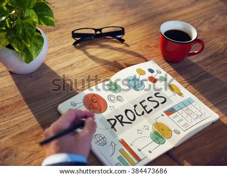Process Action Organization Business System Concept - stock photo