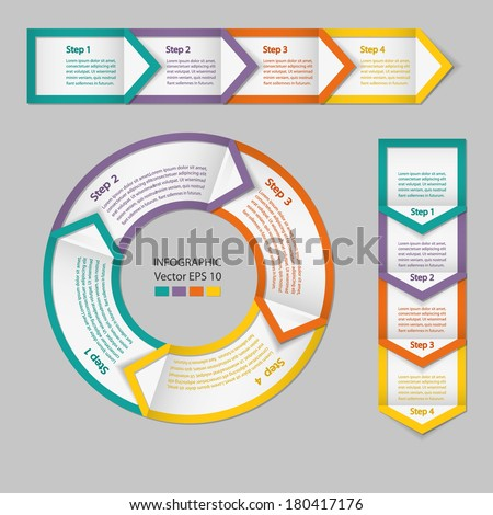 Process chart module. Infographics. Raster copy. - stock photo