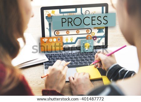 Process Method Production Operation System Concept - stock photo