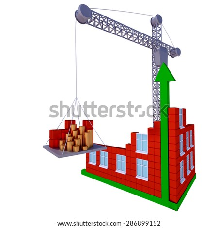Process of building a business, real estate. Isolated illustration. - stock photo