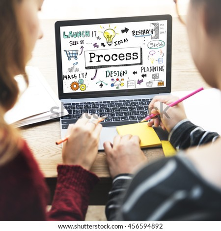 Process Research Sketch Planning Design Graphic Concept - stock photo
