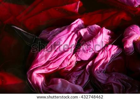 Process Tie Dye,Abstract Swirl Design Tie Dye,Craft handmade - stock photo