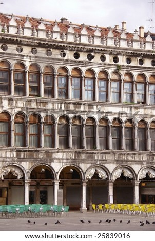 Procuratie Vechio in Venice in Italy - stock photo