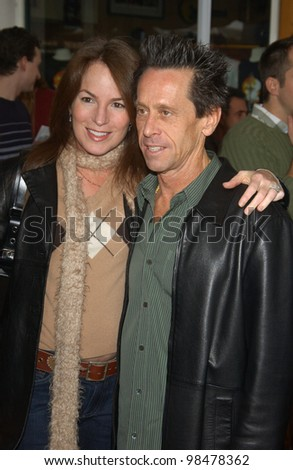 Producer BRIAN GRAZER & wife at the world premiere, in Hollywood, of his new movie Dr. Suess' The Cat in the Hat. November 8, 2003  Paul Smith / Featureflash