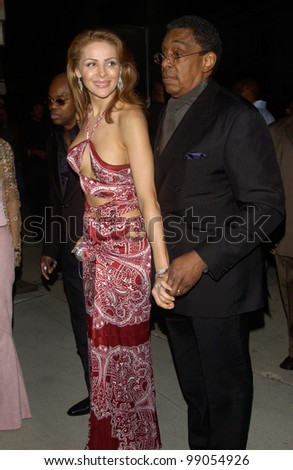 Producer DON CORNELIUS & wife at A Night with Janet Damita Jo Jackson - a party to celebrate the career achievements of Janet Jackson - at Mortons Restaurant, West Hollywood, CA. March 20, 2004