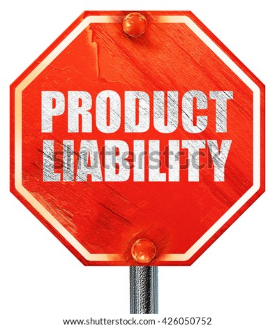 product liability, 3D rendering, a red stop sign - stock photo