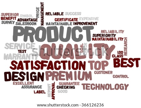 Product Quality, word cloud concept on white background.  - stock photo