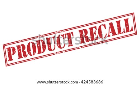 product recall stamp - stock photo