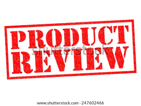 PRODUCT REVIEW red Rubber Stamp over a white background. - stock photo