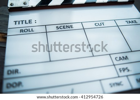 Production clapperboard media design background Hollywood