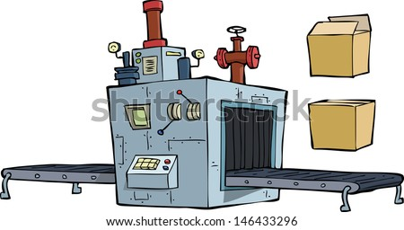 Production equipment on a white background raster version - stock photo