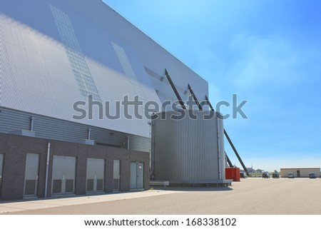 Production hall of a modern factory - stock photo