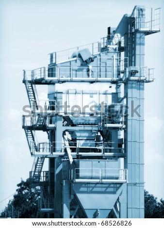 Production of asphalt - stock photo
