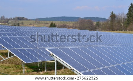 production of electricity by photovoltaic panels, South Bohemia, Czech Republic