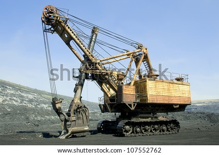 Production useful minerals, the excavator