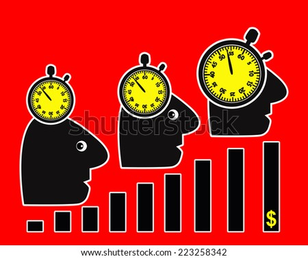 Productivity Increase. More profits through more amount of work in less time makes people sick - stock photo