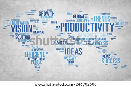 Productivity Mission Strategy Business World Vision Concept - stock photo