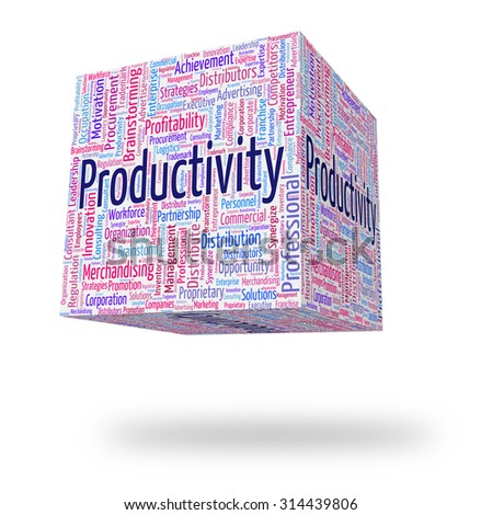 Productivity Word Representing Effective Text And Efficiency