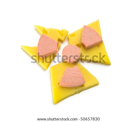 Products in the form of a sign warning about radiation - stock photo