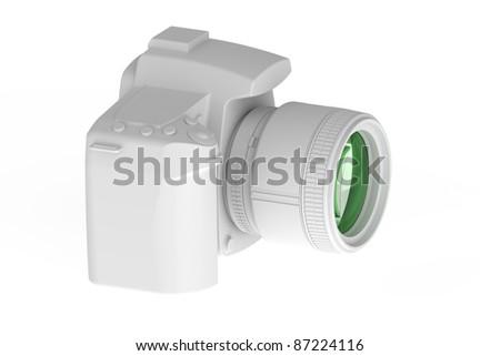 Profesional DSLR Photo Camera - stock photo