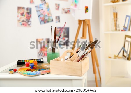 Professional art studio - stock photo