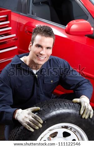 Professional Auto mechanic. Car repair service. - stock photo