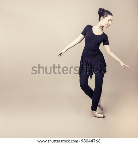 Professional ballet dancer - stock photo
