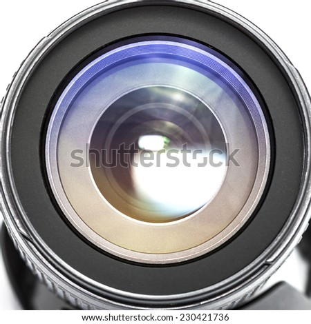 Professional camera lens. - stock photo