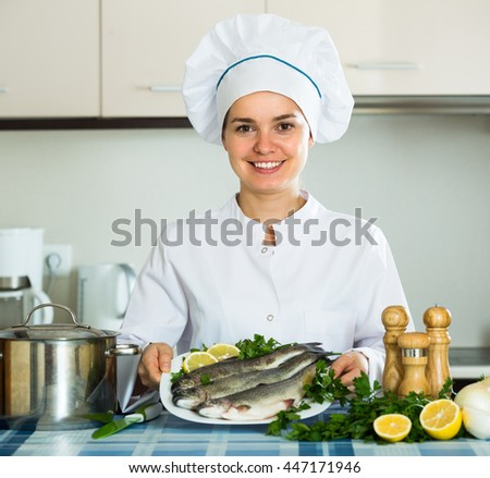 Pollock fish stock images royalty free images vectors for Fresh chef kitchen