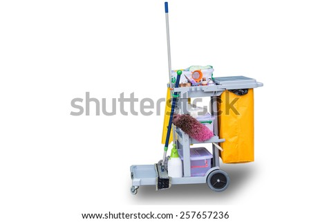 Professional Cleaning Equipment. Isolated On White Background - stock photo