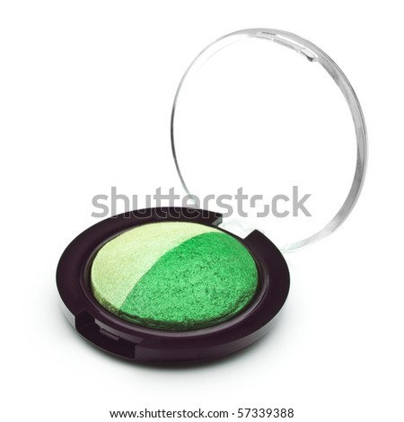 Professional cosmetic accessories on a white background - stock photo