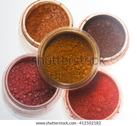 Professional cosmetics. Eye-shadows of different colors