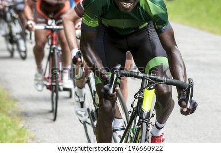 professional cycling race - stock photo