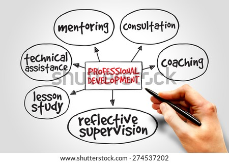 Professional development mind map business concept - stock photo