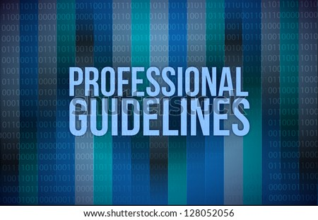 professional guidelines concept binary illustration design blue background - stock photo