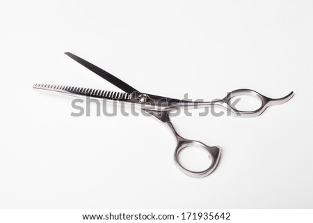 Professional Hair Scissors on White Background