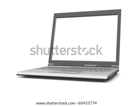 professional Laptop isolated on white background with empty space - stock photo