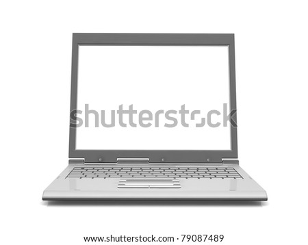 Professional Laptop isolated on white with empty space - stock photo