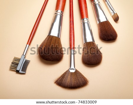 Professional make-up tools - brushes